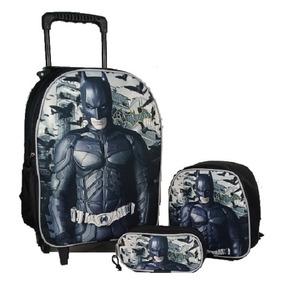 0e1b71b8bb Mochila Do Batman Com Rodinha E Lancheira Tamanho G - Mochilas no ...