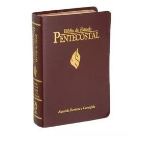 Bíblia De Estudo Pentecostal Grande Cor Vinho + Capa Brinde