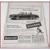 Dante42 Publicidad Antigua Retro Auto Hillman Minx 1954