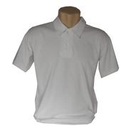 Kit 10 Camisa Malha Polo Lisa Branco 100% Algodão  30.1
