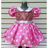 Disfraz Mimi Minnie Mouse Vestido Niña Incluye Mallas Orejas
