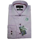 Camisa Slim Fit Lunares Tejidos Fina Terminación De Prenda