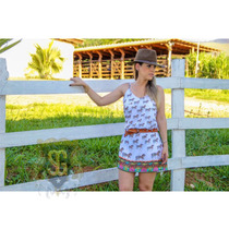 Vestido Country Cavalo Estampa Exclusiva Selaria Guiricema