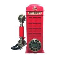 Telefone Com Fio Cabine Londrina Retro Vintage