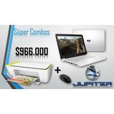 Combo Computador Portátil Hp Con Impresora Y Mouse