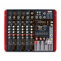 Consola Mixer Potenciada Novik Neo Nvk 800p Usb Radio Aceto