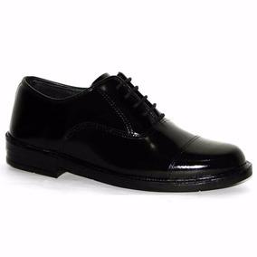 Sapato Social Militar C/ Brilho E Solado Pu-poliuretano