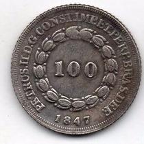 Moeda 100 Reis 1847 Ref 527 Replica Rara