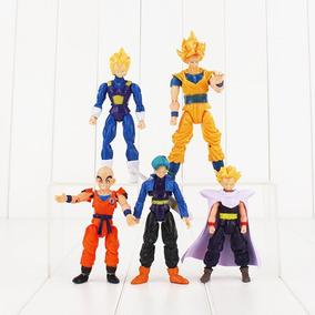 5 Bonecos Articulados Goku /gohan/trunks/vegeta Dragon Ball