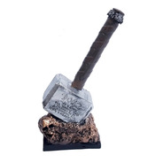 Miniatura Colecionável Marreta Thor Em Resina 19cm