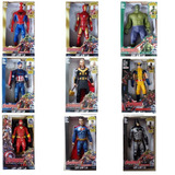 Kit 5 Bonecos Vingadores Marvel 30 Cm Luz E Som