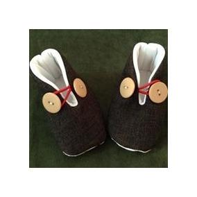 Hermosos Zapatos Para Bebé Niño Suaves De Tela Cafés
