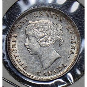 Ca 1888 Ca Ca0190 Canadá 10 Centavos Au Plata De Po-01