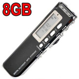Gravador De Voz Digital Microfone Grava 6 Dias Mp3 Player