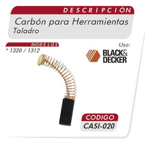 Carbones Taladro 1320-1312 Black & Decker Casi 020