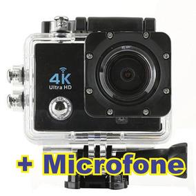 Câmera 4k Sportes + Microfone Para Capacete 12x Sem Juros