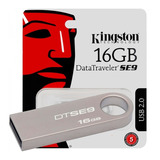 Pen Drive Kingston 16gb Dtse9 Usb 2.0 Metalico Original