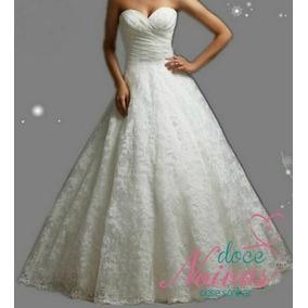 Vestido Noiva Tomara Que Caia Renda Pronta Entrega