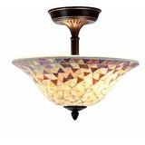 Tiffany Estilo Lámpara De Mosaico Veneciano Ambarino...
