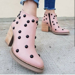 Texana Cuero Vacuno Zapatos Mujer Moda 2018 Taco Raspado 305