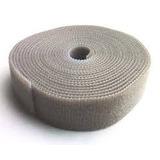 Abraçadeira Velcro Slim Dupla Face Rolo C/ 3 M Cinza Kit C/4