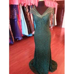 Vestido Fiesta Noche Alta Costura Morrell Maxie Talla 6