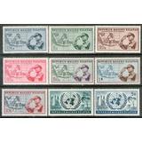 Maluku Selatan 9 Sellos Mint 50° Liberación Pacífico, N. U.