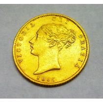 Importante Moneda De Coleccion Libra Oro 22kilates Año1865