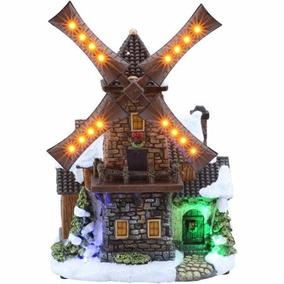 Molino De Viento Con Luz Led Decorativo Holiday Time