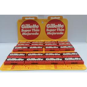 Gillette Hojas De Afeitar 20cajitas Por 5 Hojitas .