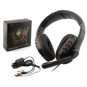 Fone Headset Stereo Microfone Ps3 Play 3 Ps4 Pc Mac Xbox 360