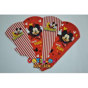 10 Conos Pochocleros + Base Porta Conos Mickey Mouse