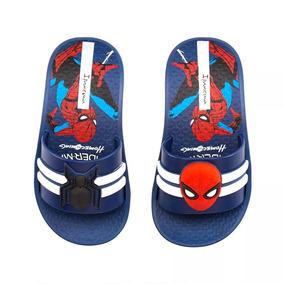 Chinelo Slide Infantil Ipanema Homem-aranha