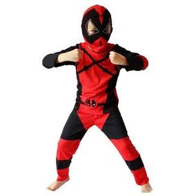 ***promoção Fantasia Deadpool Infantil+espada Ninja Anos