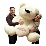 Urso Gordo Creme Pelúcia Gigante Big Tedy Enorme 1,3 M 130cm
