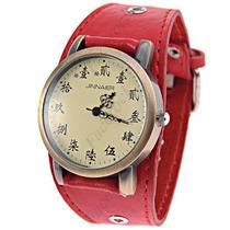 Relógio Bracelete De Couro Samurai Rock. Lindo Relógio.
