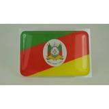 Adesivo Bandeira Resinada Estado Rio Grande Sul 9,0 X 4,5cm
