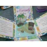 Tarjeta Invitación Hawaiana, Hawaii, Tema Playero, Tropical.