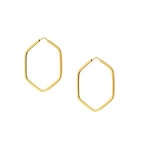Brinco De Argola Quadrada Em Ouro Macico 18k 750 - Brincos no ... 0f3d652e7c