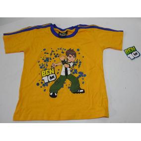 Camiseta Playera Amarilla Ben 10 Talla 10 Niño Nueva