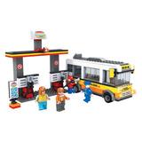 Blocos De Montar Educativo Posto De Gasolina 324 Pçs Lego