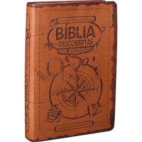 Bíblia Das Descobertas Para Adolescente Jovem Marrom Luxo