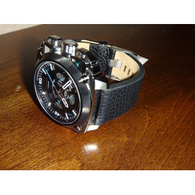Reloj Diesel Bamf Silver Black Leather