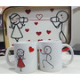 Set Desayuno Bandeja Y 2 Tazas Personalizadas San Valentin