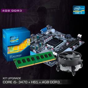 Kit Processador I5 - 3470 + Placa Mãe H61 + 4gb Ddr3