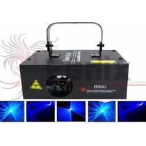 Laser Azul B500 500mw Raios Dmx Ritmico Bivolt Automatico