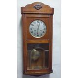 Reloj De Pared A Pendulo Antiguo Maquina Alemana