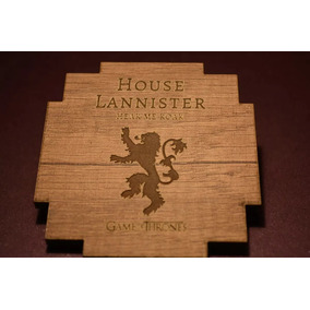 Posavasos Game Of Thrones X 8 Unidades En Madera.