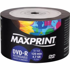 Dvd-r Bulk Maxprint 4.7gb/120min 16x (pino C/ 50)