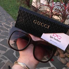 Oculos Sol Gucci Marrom Fotos Reais